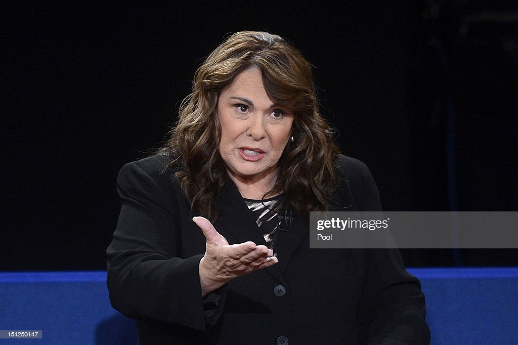 Moderator <a gi-track='captionPersonalityLinkClicked' href=/galleries/search?phrase=Candy+Crowley&family=editorial&specificpeople=3007943 ng-click='$event.stopPropagation()'>Candy Crowley</a> speaks during a town hall style debate at Hofstra University October 16, 2012 in Hempstead, New York. During the second of three presidential debates, the candidates fielded questions from audience members on a wide variety of issues.