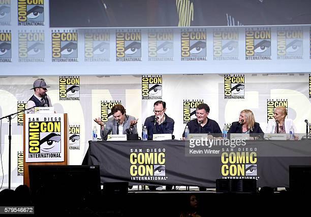 Moderator Chris Hardwick actor Benedict Cumberbatch actor/writer/producer Mark Gatiss writer/producer Steven Moffat producer Sue Vertue and actress...