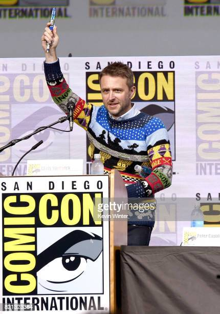 Moderator Chris Hardwick at 'Doctor Who' BBC America official panel during ComicCon International 2017 at San Diego Convention Center on July 23 2017...