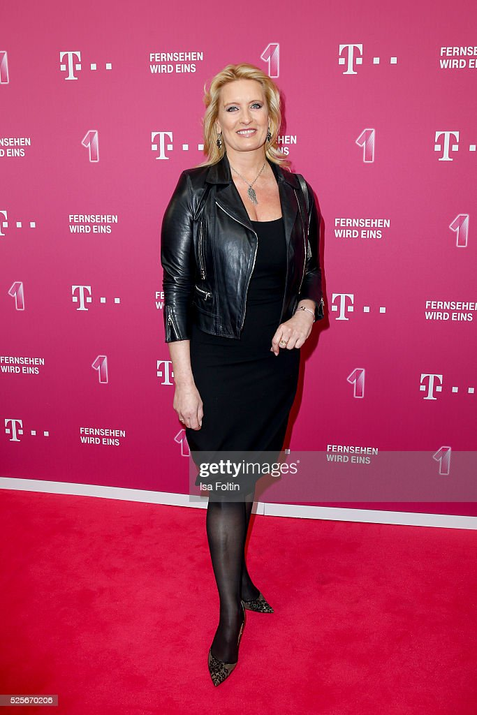 TV moderator Claudia Kleinert attends the Telekom Entertain TV Night at Hotel Zoo on April 28, 2016 in Berlin, Germany.