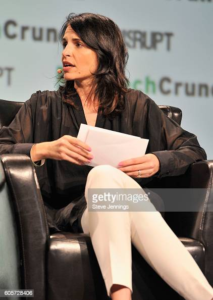 Moderator Connie Loizos speak onstage during TechCrunch Disrupt SF 2016 at Pier 48 on September 14 2016 in San Francisco California
