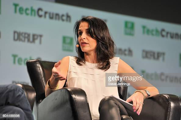 Moderator Connie Loizos speaks onstage during TechCrunch Disrupt SF 2016 at Pier 48 on September 13 2016 in San Francisco California