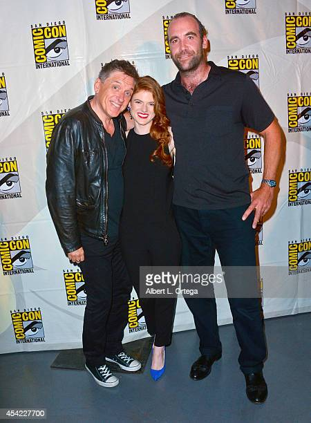 Moderator Craig Ferguson actors Rose Leslie and Rory McCann at HBO's 'Game Of Thrones' Panel And QA on Friday Day 2 of ComicCon International 2014...