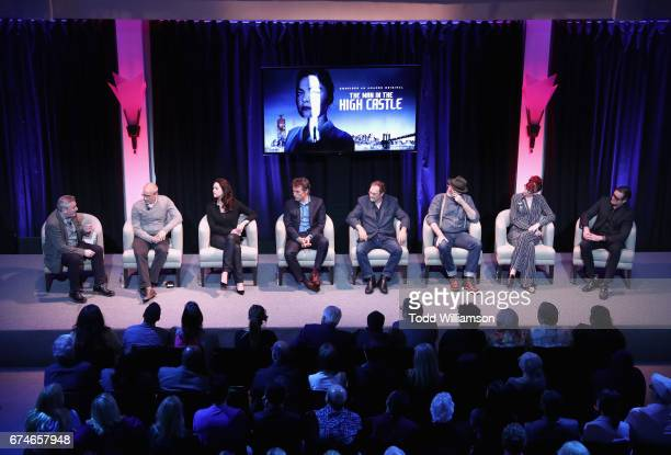 Moderator Damon Wise executive producers David Zucker Isa Hackett actors Rufus Sewell Stephen Root Emmy nominated Production Designer Drew Boughton...