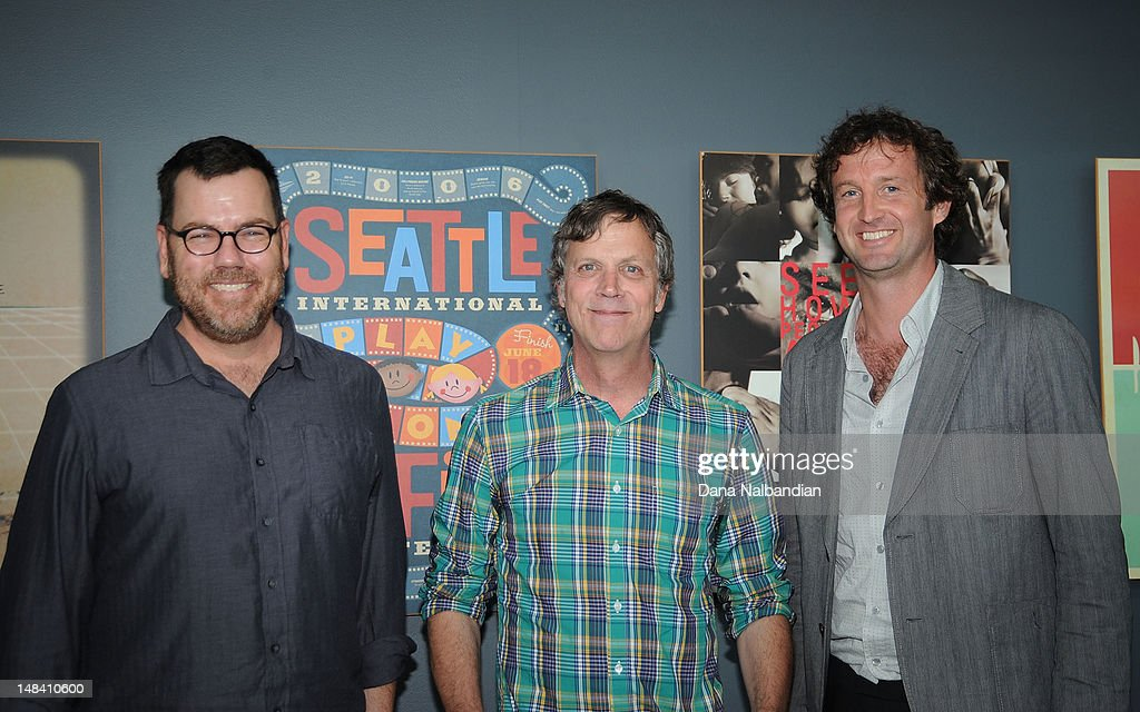 Moderator Dave Schmader, director <a gi-track='captionPersonalityLinkClicked' href=/galleries/search?phrase=Todd+Haynes&family=editorial&specificpeople=234598 ng-click='$event.stopPropagation()'>Todd Haynes</a> and Sundance Film Festival director <a gi-track='captionPersonalityLinkClicked' href=/galleries/search?phrase=Trevor+Groth&family=editorial&specificpeople=561179 ng-click='$event.stopPropagation()'>Trevor Groth</a> at the Sudance Institute Seattle Shorts Lab at SIFF Cinema on July 15, 2012 in Seattle, Washington.