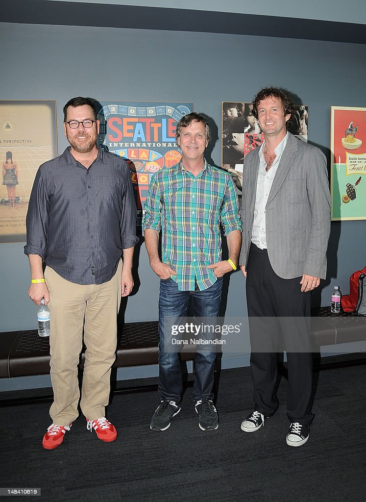 Moderator Dave Schmader, director Todd Haynes and Sundance Film Festival director Trevor Groth at the Sudance Institute Seattle Shorts Lab at SIFF Cinema on July 15, 2012 in Seattle, Washington.