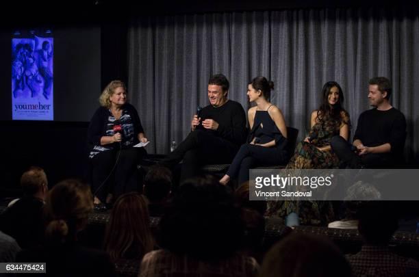 Moderator Diane Gordon Showrunner John Scott Shepherd and Actors Priscilla Faia Melanie Papalia and Greg Poehler attend SAGAFTRA Foundation's...