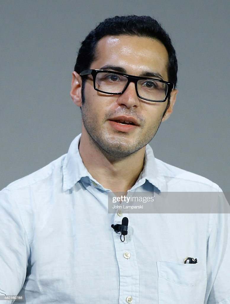 Moderator Eric Cohn speaks during meet the filmmaker series, 'A Lego Brickumentary' at the Apple Store Soho on July 27, 2015 in New York City.