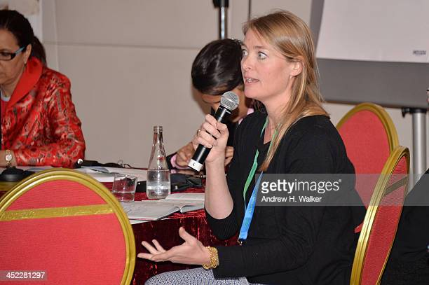 Moderator Fleur Winters attends the panel 'Getting Social with Media Let the Games begin' during day 2 of Ajyal Youth Film Festival on November 27...