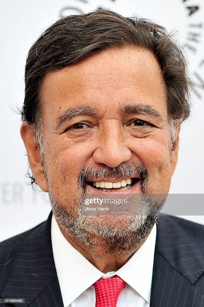 Moderator for the evening and former Governor of New Mexico <a gi-track='captionPersonalityLinkClicked' href=/galleries/search?phrase=Bill+Richardson&family=editorial&specificpeople=213321 ng-click='$event.stopPropagation()'>Bill Richardson</a> arrives at the Paley Center for Media Presents an evening with WGN America's 'Manhattan' at the Paley Center for Media on July 9, 2014 in Beverly Hills, California.