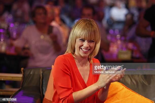Moderator Francine Jordi during the dress rehearsal of the TV music show 'StadlshowÒ on September 11 2015 in Offenburg Germany