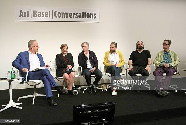 Moderator Hans Ulrich Obrist CoDirector of the Serpentine Gallery in London speaks with artists Angela Bulloch Rodney Graham Ragnar Kjartansson Ari...