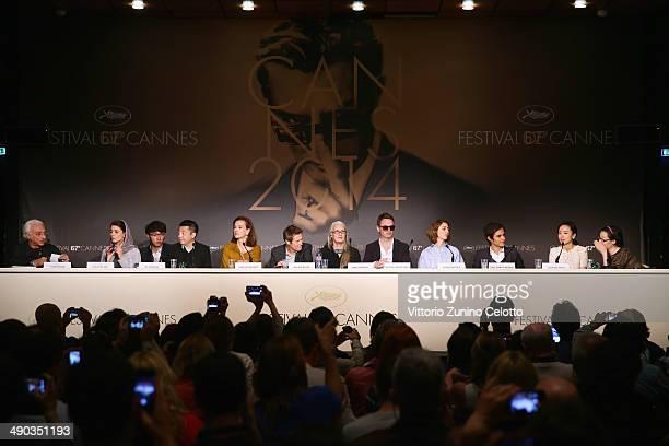 Moderator Henri Behar Jury members Leila Hatami guest Zhangke Jia Carole Bouquet Willem Dafoe Jane Campion Nicolas Winding Refn Sofia Coppola Gael...