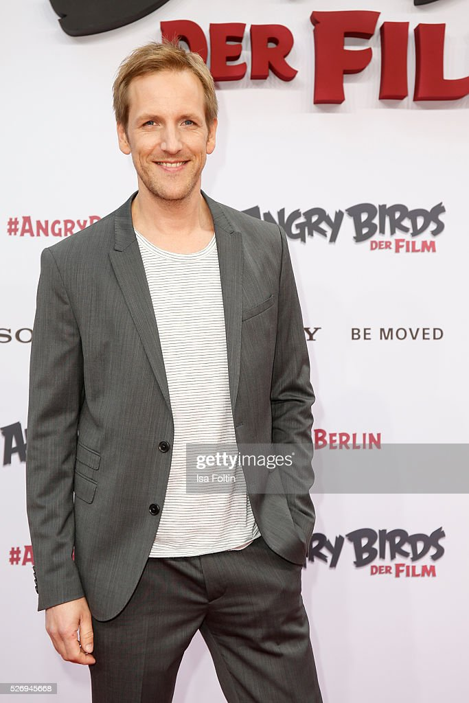 Moderator Jan Hahn attend the Berlin premiere of the film 'Angry Birds - Der Film' at CineStar on May 1, 2016 in Berlin, Germany.