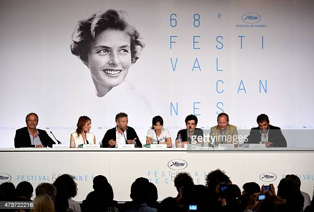 Moderator JeanPierre Lavoignat actress Emmanuelle Bercot actor Vincent Cassel director Maiwenn actor Louis Garrel scriptwriter Etienne Comar and...