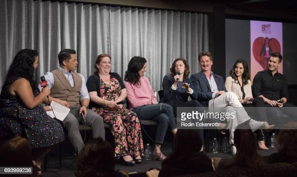 Moderator Jenelle Riley and cast III Vincent Rodriguez Donna Lynne Champlin Aline Brosh McKenna Rachel Bloom Pete Gardner Gabrielle Ruiz and Scott...
