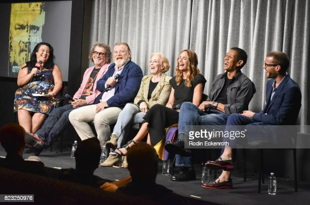 Moderator Jenelle Riley Director Jack Bender actors Brendan Gleason Holland Taylor Kelly Lynch Scott Lawrence and Harry Treadaway speak onstage at...