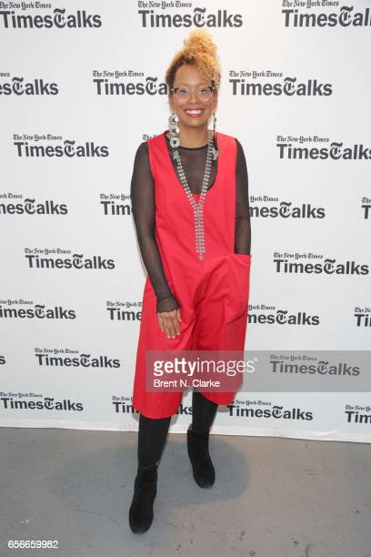 Moderator Jenna Wortham attends TimesTalks with Gary Clark Jr held at TheTimesCenter on March 22 2017 in New York City