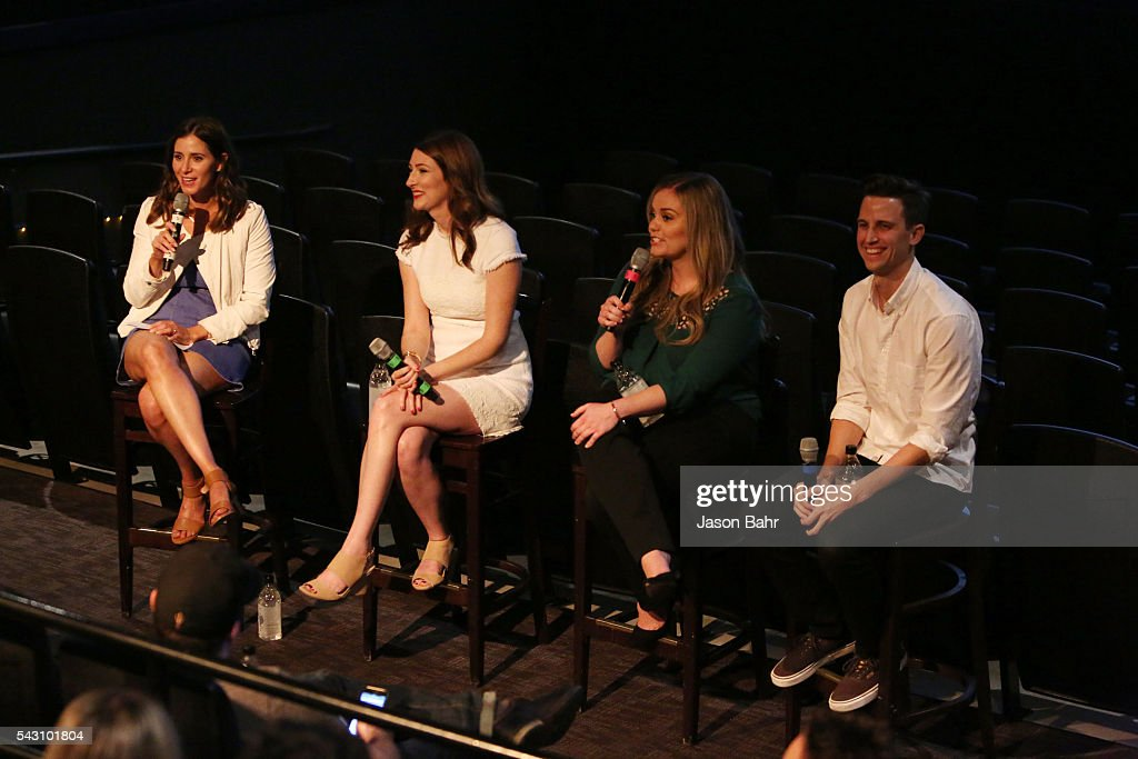Moderator Kaily Smith Westbrook, Katy Colloton, Kate Lambert, and Brad Gardner speak during the SeriesFest: Season Two 'From Web to