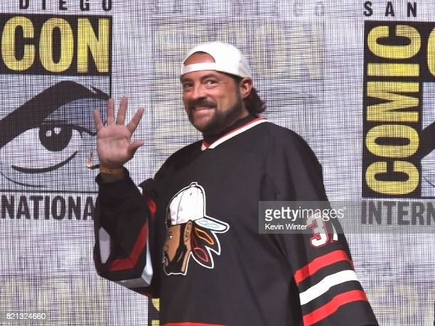 Moderator Kevin Smith at Dirk Gently's Holistic Detective Agency BBC America Official Panel during ComicCon International 2017 at San Diego...