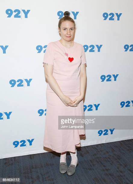 Moderator Lena Dunham attends a conversation with Ariel Levy at 92nd Street Y on March 17 2017 in New York City