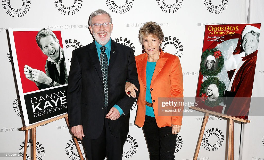Moderator <a gi-track='captionPersonalityLinkClicked' href=/galleries/search?phrase=Leonard+Maltin&family=editorial&specificpeople=208242 ng-click='$event.stopPropagation()'>Leonard Maltin</a> (L) and Dena Kaye attend The Paley Center For Media's Holiday Salute To Danny Kaye at The Paley Center for Media on December 5, 2012 in Beverly Hills, California.