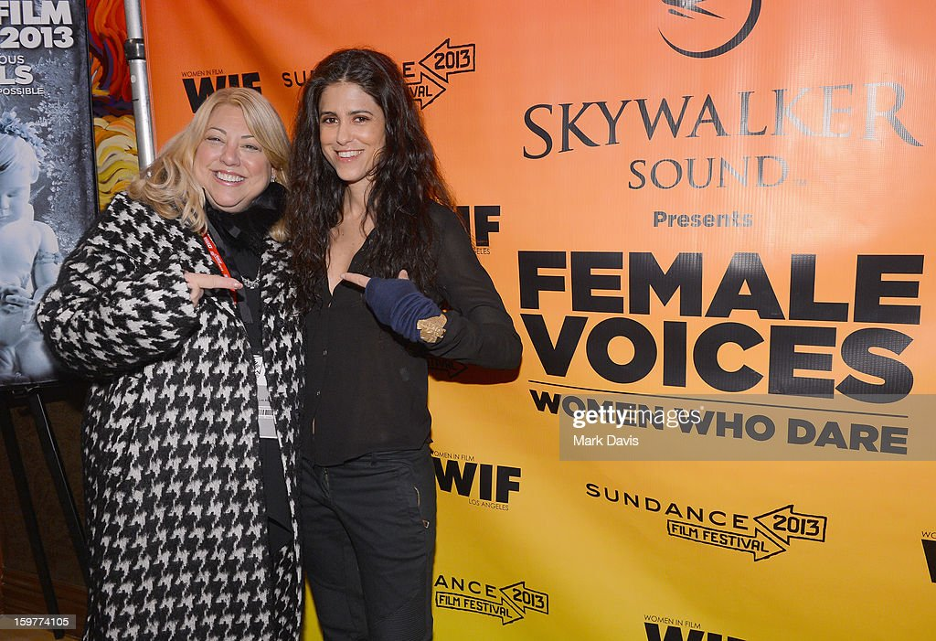Moderator Lucy Webb and filmmaker Francesca Gregorini attend the Women In Film's Sundance Filmmakers Panel presented by Skywalker Sound on January 20, 2013 in Park City, Utah.