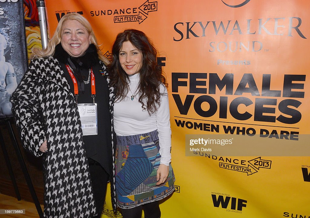 Moderator Lucy Webb and filmmakerJehane Noujaim attend the Women In Film's Sundance Filmmakers Panel presented by Skywalker Sound on January 20, 2013 in Park City, Utah.