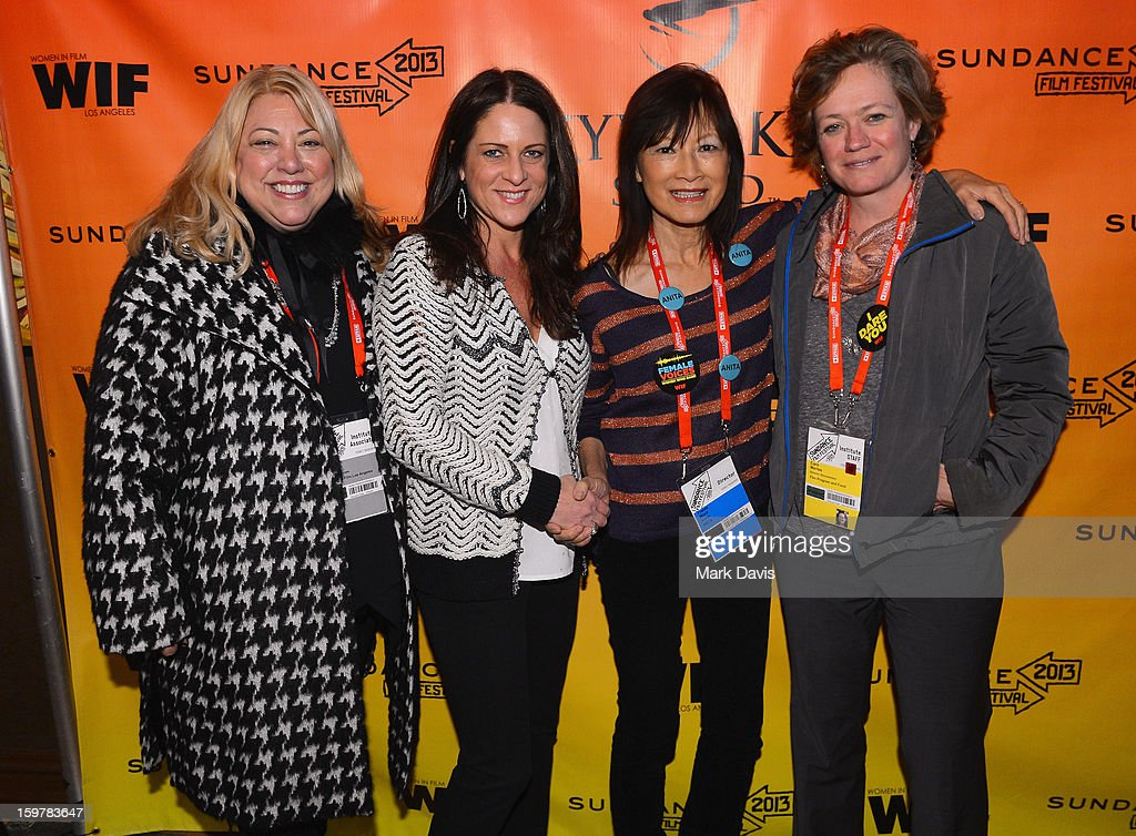 Moderator Lucy Webb, Cathy Schulman, President, Women In Film, filmmaker Freida Mock and Director Documentary Film Program Sundance Film Festival, Cara Mertes attend the Women In Film's Sundance Filmmakers Panel presented by Skywalker Sound on January 20, 2013 in Park City, Utah.