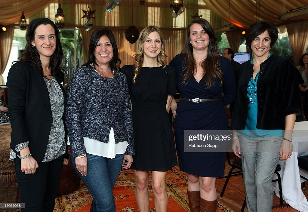 Moderator Madelyn Hammond, producer Allison Abbate, producer Pilar Savone, writer Lucy Alibar, Fox exec Marisa Paiva and producer Katherine Sarafian attend the 28th Santa Barbara International Film Festival Women's Panel on February 2, 2013 in Santa Barbara, California.