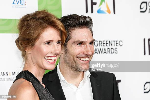 Moderator Mareile Hoeppner and dancer Christian Polanc attend the Green Tec Award at ICM Munich on May 29 2016 in Munich Germany