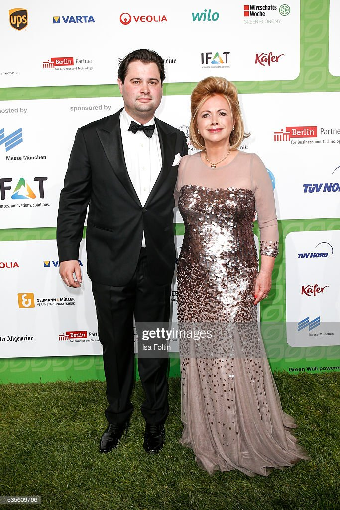 Moderator <a gi-track='captionPersonalityLinkClicked' href=/galleries/search?phrase=Marijke+Amado&family=editorial&specificpeople=3948660 ng-click='$event.stopPropagation()'>Marijke Amado</a> and her son Kia Amadoattends the Green Tec Award at ICM Munich on May 29, 2016 in Munich, Germany.