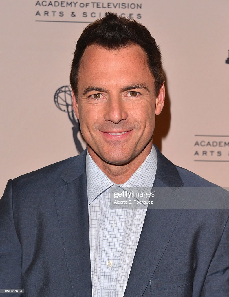 Moderator Mark Steines arrives to the Academy of Television Arts and Sciences' An Evening with 'Revenge' at Leonard H. Goldenson Theatre on March 4, 2013 in North Hollywood, California.