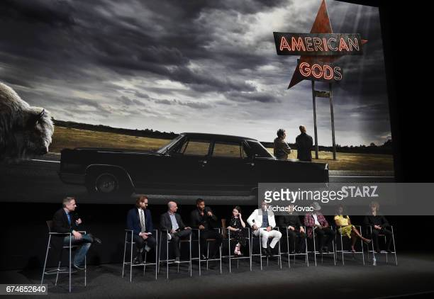 Moderator Michael Schneider Producer/showrunner Bryan Fuller Producer/showrunner Michael Green actor Ricky Whittle actress Emily Browning actor Pablo...