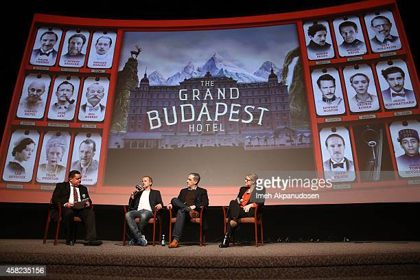 Moderator Mike Fleming and producers Jeremy Dawson John Lesher and Bruna Papandrea speak onstage during Deadline's The Contenders at DGA Theater on...