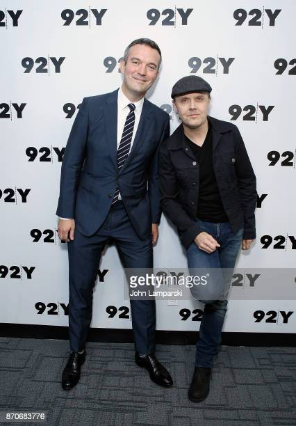 Moderator Mike Hogan and Metallica's Lars Ulrich attends 92nd Street Y presents Metallica's Lars Ulrich at 92nd Street Y on November 5 2017 in New...