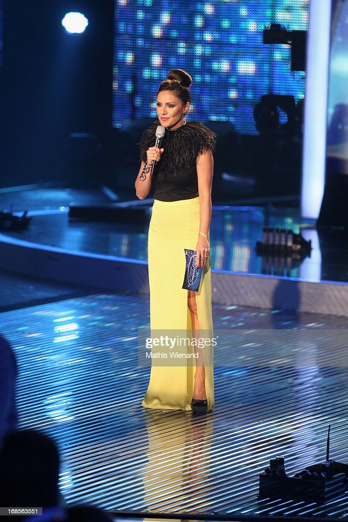 Moderator Nazan Eckes at the 'Deutschland sucht den Superstar' Finals on May 11, 2013 in Cologne, Germany.