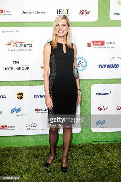 Moderator Nina Ruge attends the Green Tec Award at ICM Munich on May 29 2016 in Munich Germany