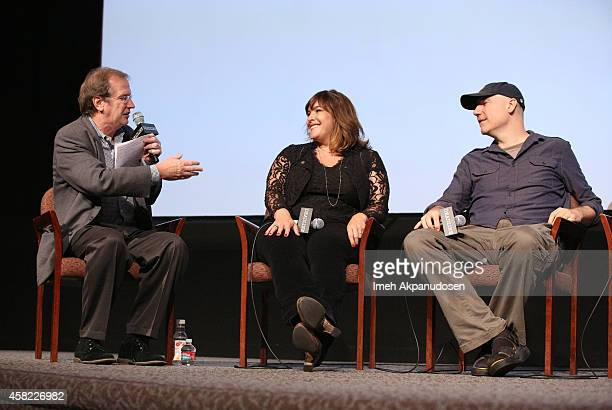 Moderator Pete Hammond songwriters Danielle Brisebois and Gregg Alexander speak onstage during Deadline's The Contenders at DGA Theater on November 1...