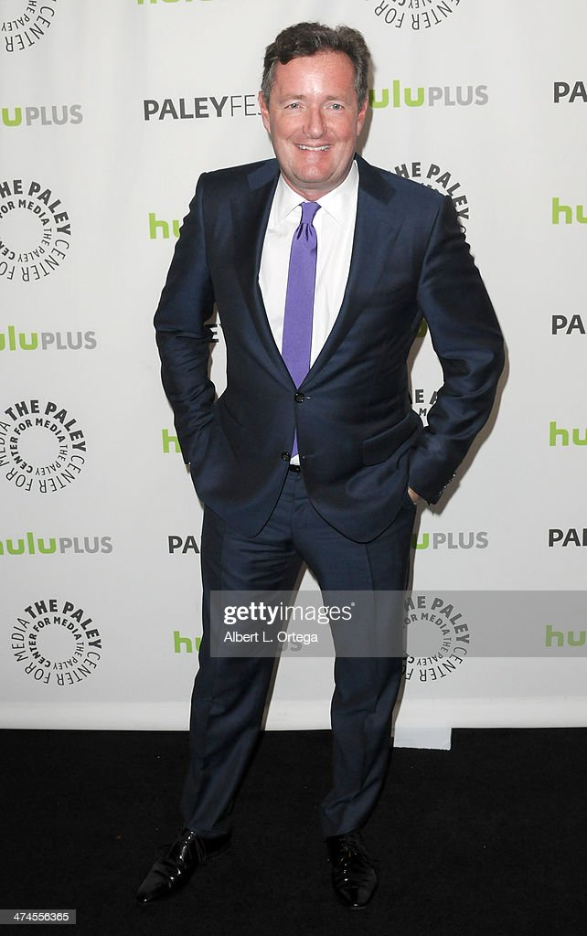 Moderator Piers Morgan participates in The Paley Center For Media's PaleyFest 2013 Honoring 'The Newsroom' held at The Saban Theater on March 3, 2013 in Beverly Hills, California.