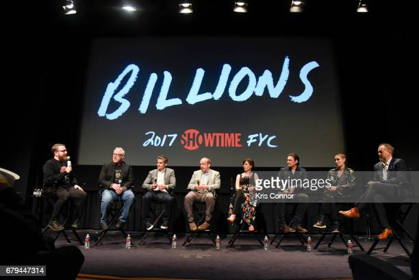 Moderator Sean T Collins speaks with Executive producers Brian Koppelman executive producer David Levien actor Paul Giamatti Actor Maggie Siff actor...