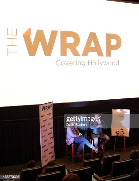 Moderator Steve Pond and director Javier Andrade attend TheWrap's Awards Foreign Screening Series 'The Porcelain Horse' at the Landmark Theater on...