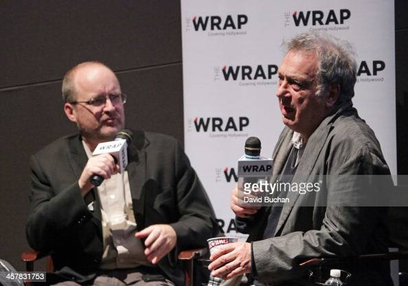 Moderator Steve Pond and director Stephen Frears attends TheWrap's Awards Foreign Screening Series 'Philomena' at the Landmark Theater on December 18...