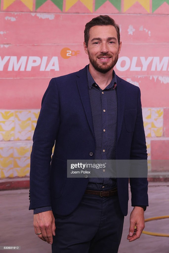 ZDF moderator Sven Voss poses during a photocall prior to the ARD and ZDF Olympics 2016 Press Conference at Empire Riverside Hotel on May 24, 2016 in Hamburg, Germany.