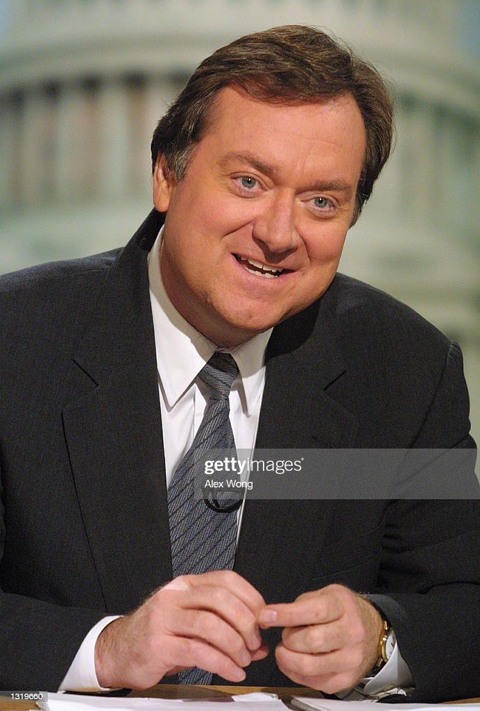 Moderator Tim Russert hosts NBC''s ''Meet the Press'' December 17 2000 in Washington