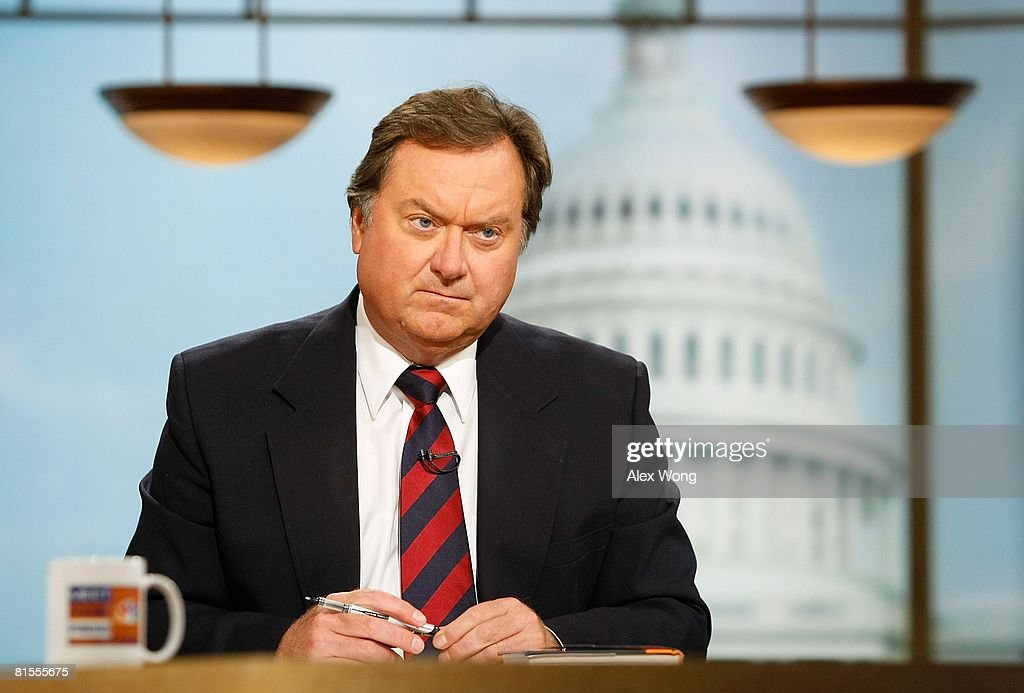 Moderator Tim Russert listens during a taping of Meet the Press at the NBC studios September 16 2007 in Washington DC According to reports Russert...