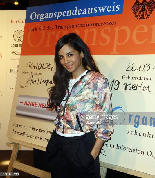 Moderatorin Collien Ulmen Fernandes aufgenommen auf der Party Junge Helden in Berlin Mit dieser Veranstaltung soll auf das Thema Organspende...