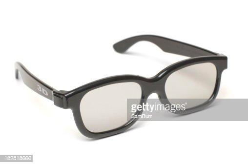 Modern 3D Glasses w/ Text