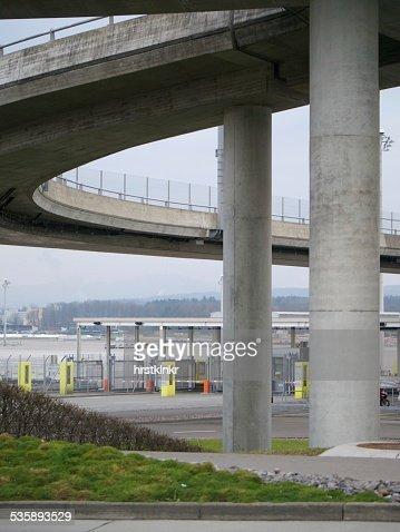 modern airport bridge : Stock Photo