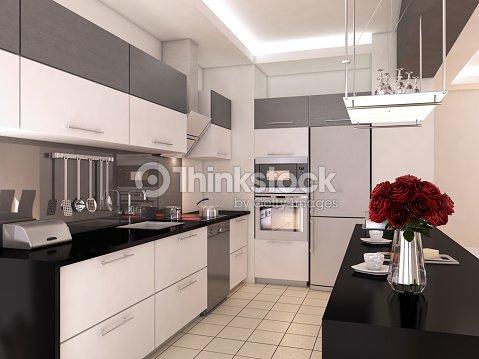 Design Di Interni Di Cucina Americana Moderna Foto stock | Thinkstock